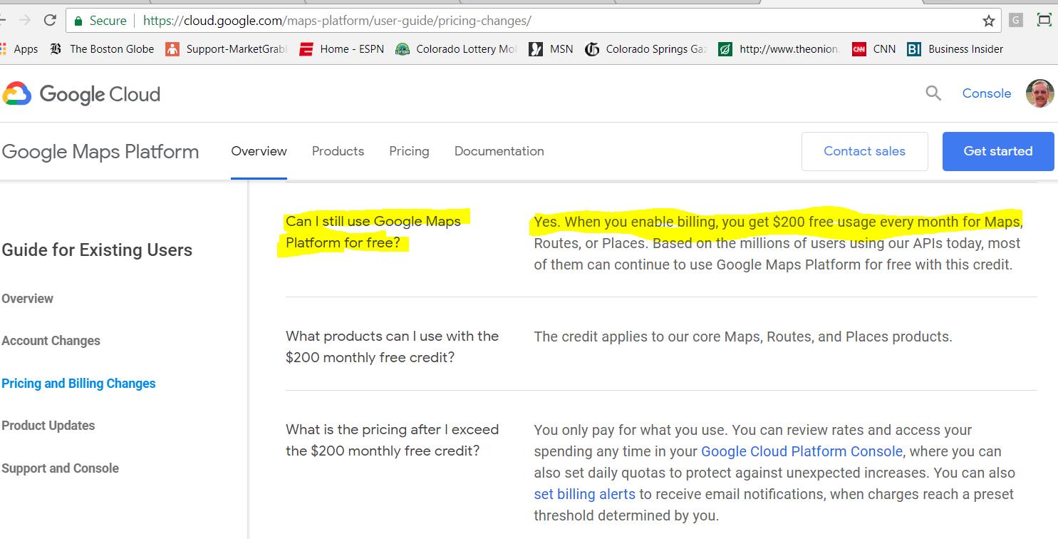 Google Maps Pricing - Free Usage - MarketGrabber Software
